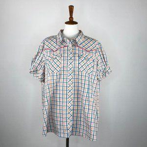 Bit & Bridle Plaid Button Down Shirt
